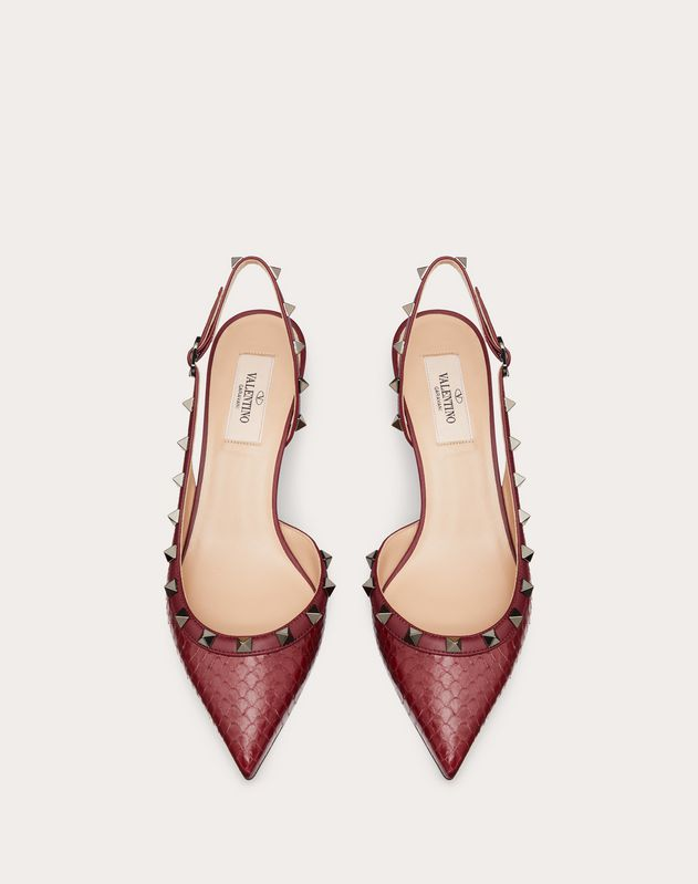 Rockstud Elaphe Slingback Pump 50 mm