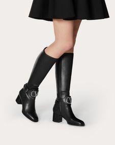 VLOGO calfskin Leather Boot 60 mm