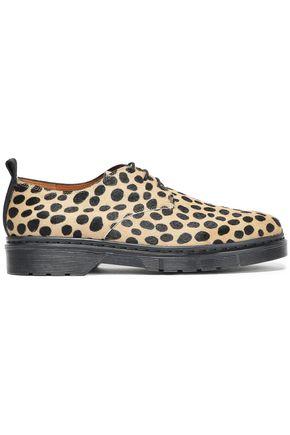 JOSEPH Leopard-print calf hair brogues