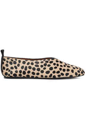 JOSEPH Leopard-print calf hair ballet flats