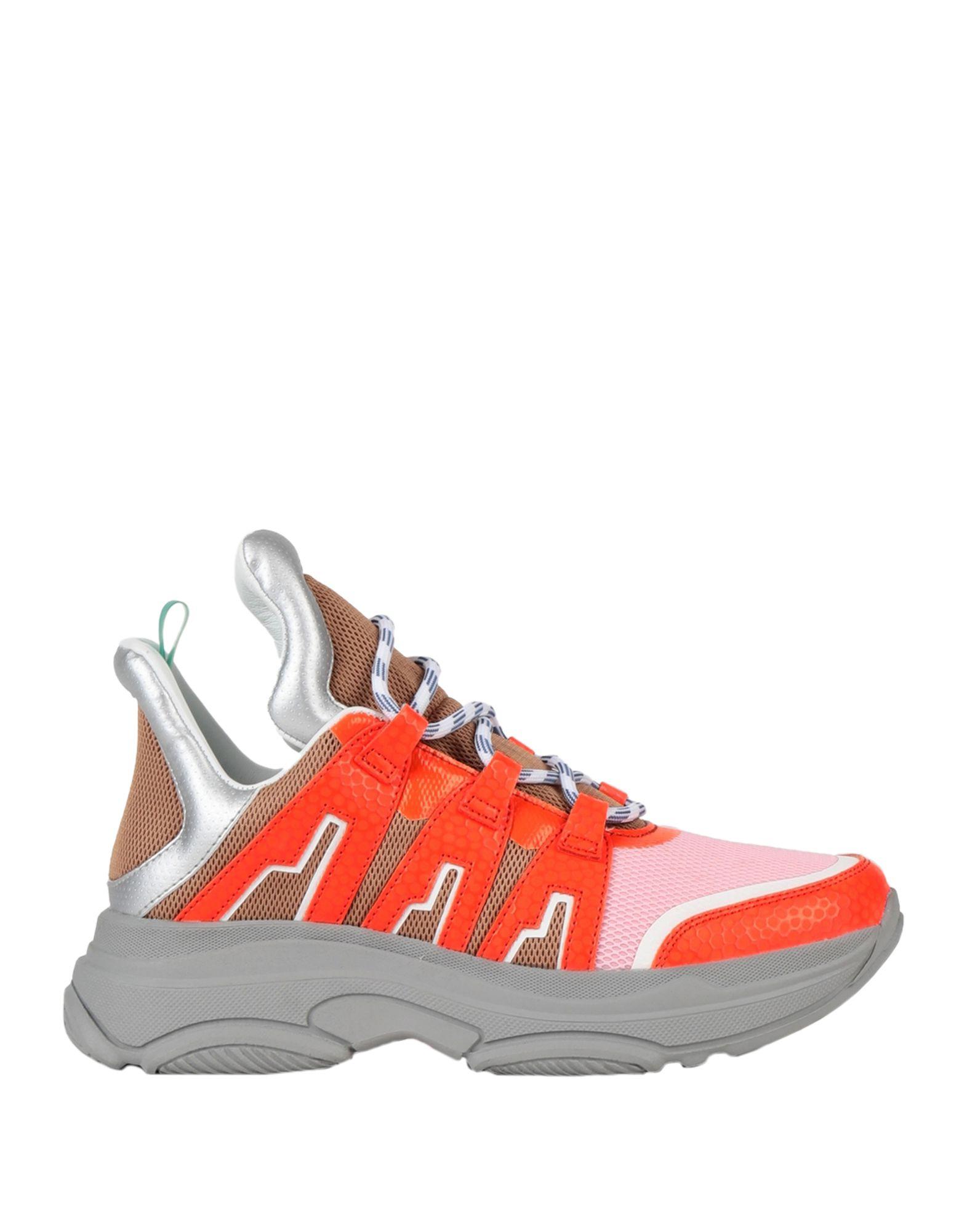 《セール開催中》ESSENTIEL ANTWERP レディース スニーカー&テニスシューズ(ローカット) オレンジ 37 ポリエステル 100% / ポリウレタン TACONAFIDE SNEAKERS