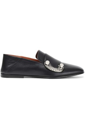 PROENZA SCHOULER Buckle-embellished leather loafers