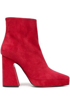 Suede Platform Ankle Boots by Proenza Schouler