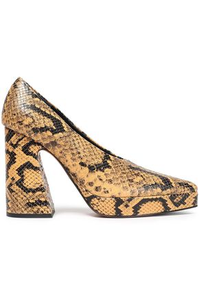 PROENZA SCHOULER Snake-effect leather platform pumps