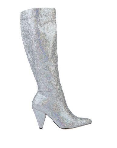 Фото - Женские сапоги  серебристого цвета