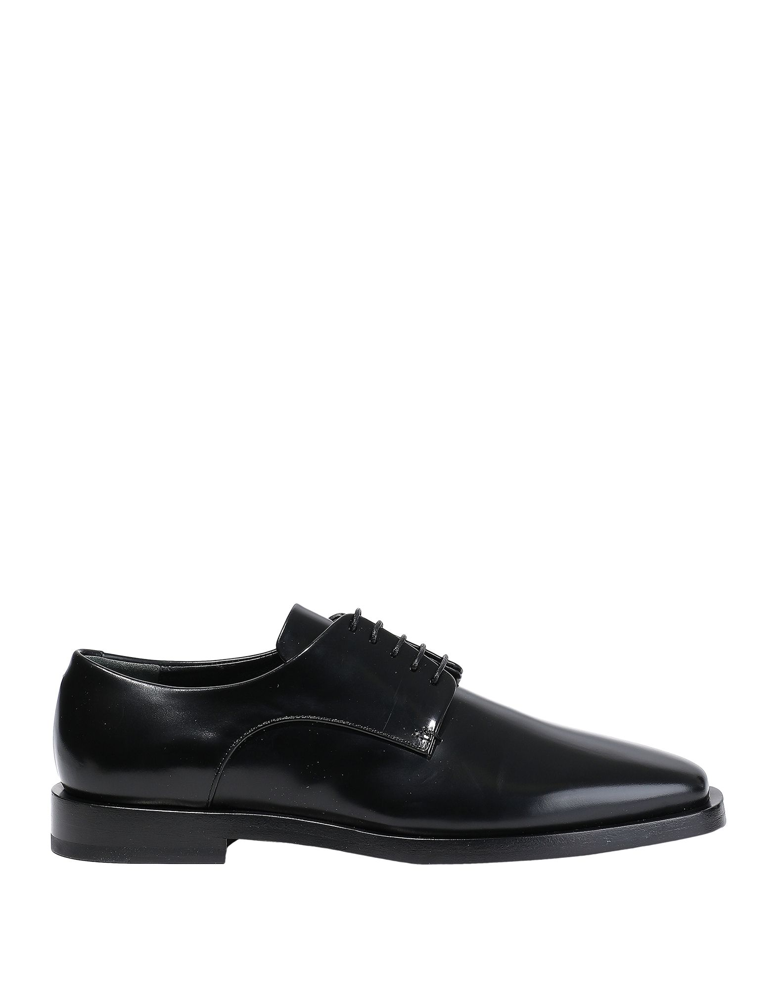 JIL SANDER Lace-up shoes. no appliqués, solid color, square toeline, square heel, leather lining, leather sole, contains non-textile parts of animal origin. Soft Leather