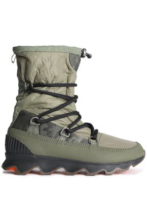 SOREL Whitney leather-trimmed shell snow boots