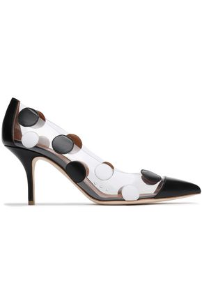 MALONE SOULIERS x EMANUEL UNGARO + Emanuel Ungaro Christie leather-appliquéd PVC pumps