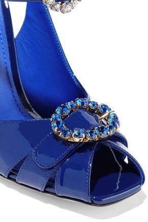 DOLCE & GABBANA Bette embellished patent-leather sandals