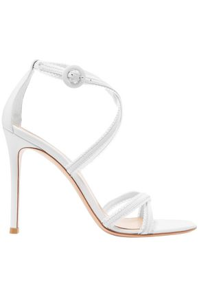 GIANVITO ROSSI Picot-trimmed leather sandals