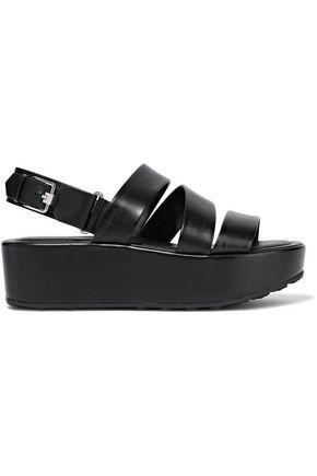 TOD'S Leather platform sandals