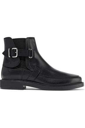 TOD'S Buckle-embellished leather ankle boots