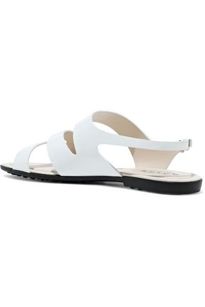 TOD'S Cutout patent-leather sandals