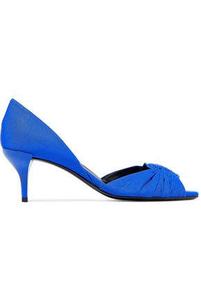 ROGER VIVIER Ruched faille pumps