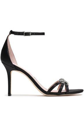 KATE SPADE New York Ingrida crystal-embellished satin sandals