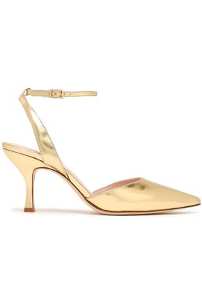 KATE SPADE New York Simone mirrored-leather pumps