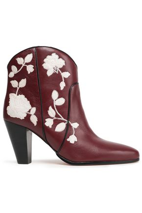 KATE SPADE New York Dalton embroidered leather ankle boots