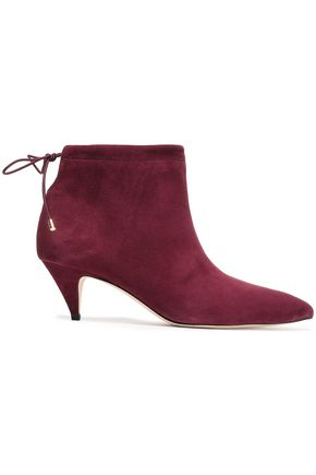 KATE SPADE New York Sophie cutout suede ankle boots