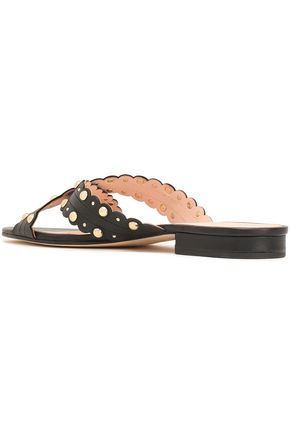KATE SPADE New York Faye studded leather slides
