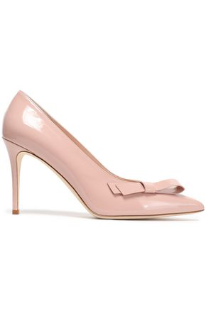 KATE SPADE New York Lamare bow-embellished patent-leather pumps