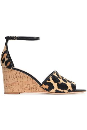 KATE SPADE New York Lonnie calf hair wedge sandals