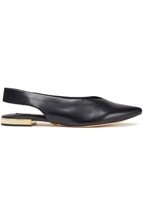 DKNY Leather point-toe flats