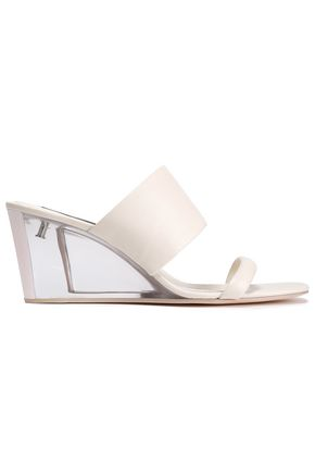 DKNY Cutout leather and perspex sandals