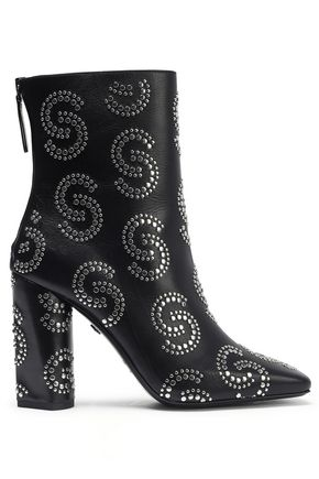 ROBERTO CAVALLI Studded leather ankle boots