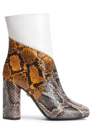 ROBERTO CAVALLI Patchwork ayers ankle boots