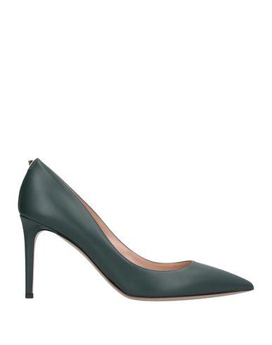 Фото - Женские туфли  темно-зеленого цвета