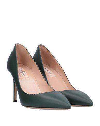 Фото 2 - Женские туфли  темно-зеленого цвета