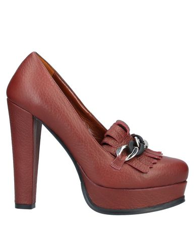 Купить Женские мокасины G.P. PER NOY BOLOGNA красно-коричневого цвета