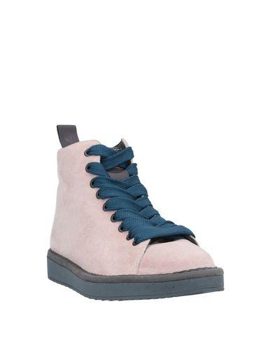 Фото 2 - Высокие кеды и кроссовки от PÀNCHIC пастельно-розового цвета