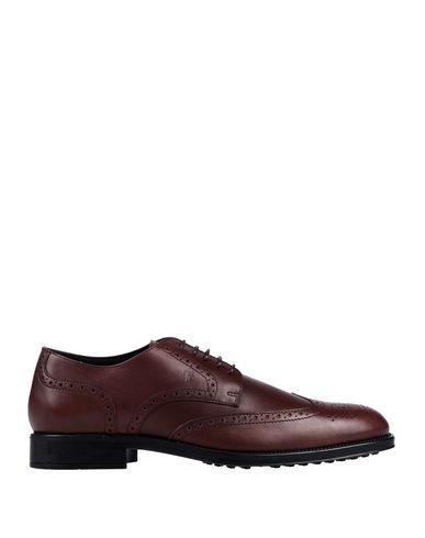 Купить Обувь на шнурках красно-коричневого цвета