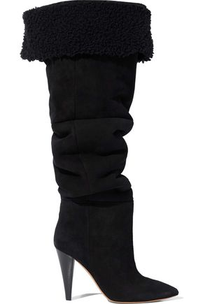 IRO Graceful shearling over-the-knee boots