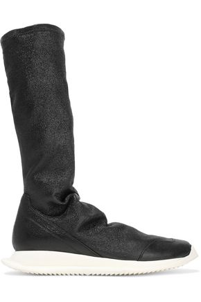RICK OWENS Stretch-leather sock boots
