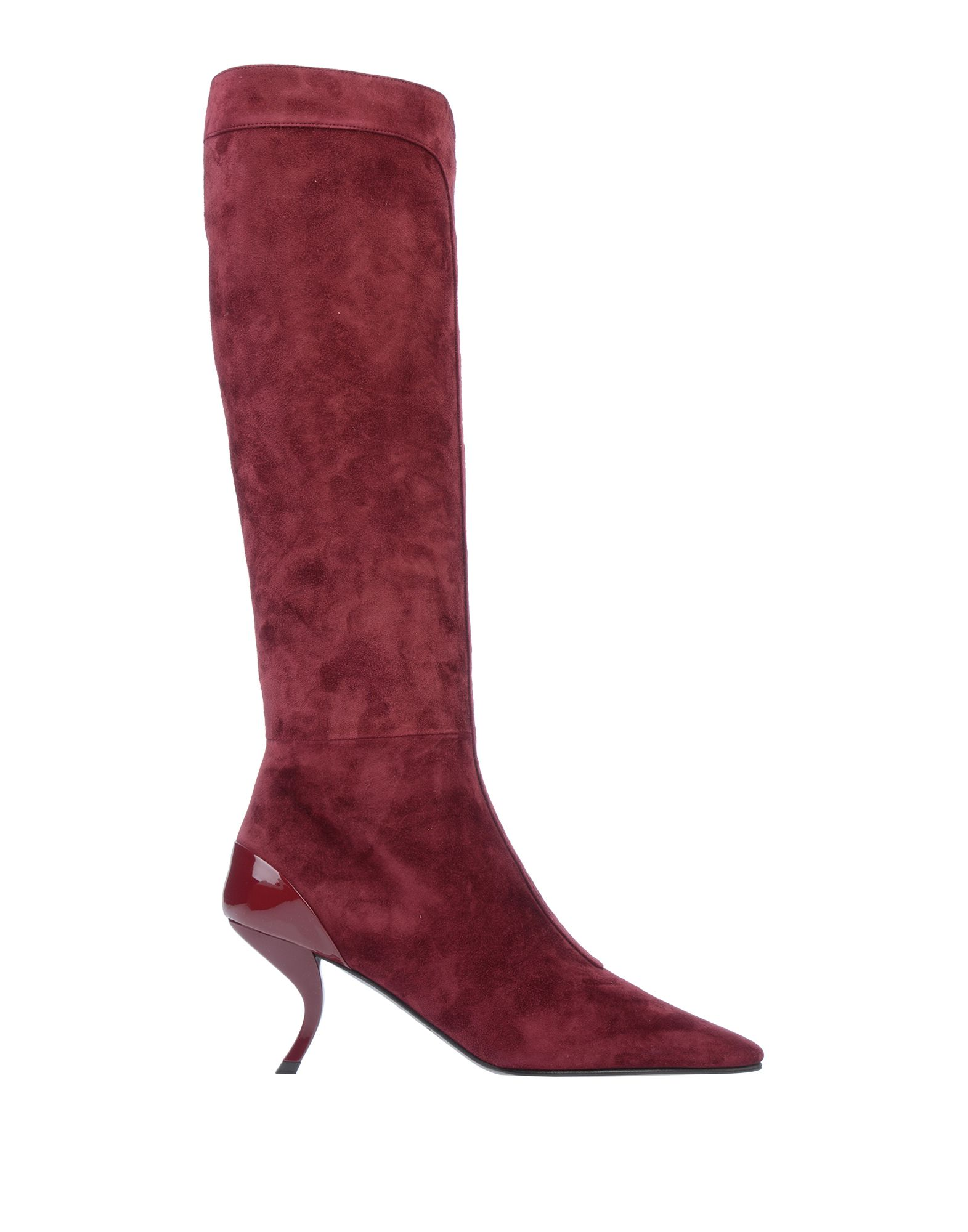 ROGER VIVIER Boots. leather, suede effect, basic solid color, zip, narrow toeline, sculpted heel, leather lining, leather sole, no appliqués, contains non-textile parts of animal origin. Soft Leather