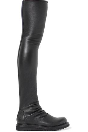 RICK OWENS Creeper stretch-leather over-the-knee boots