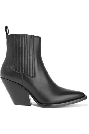 IRO Glossed-leather ankle boots