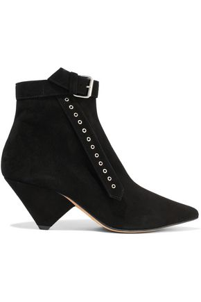 IRO Linac buckled suede ankle boots