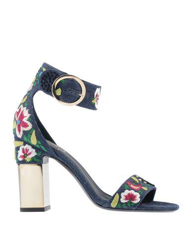 Купить Женские сандали  синего цвета