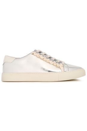 TORY SPORT Metallic leather sneakers