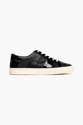 TORY BURCH Paneled leather sneakers