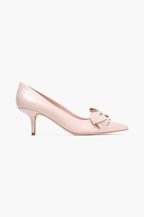 TORY BURCH Bow-embellished leather pumps