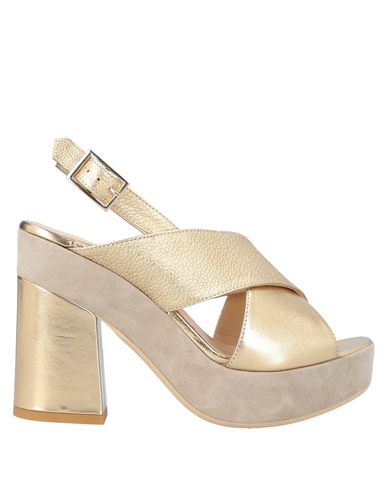 Купить Женские сандали G.P. PER NOY BOLOGNA золотистого цвета