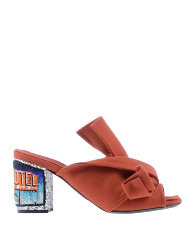 Купить Женские сандали  ржаво-коричневого цвета