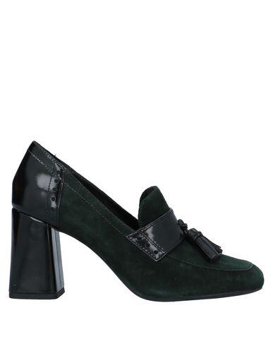 Фото - Женские мокасины  темно-зеленого цвета