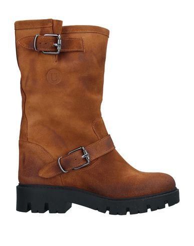 Купить Полусапоги и высокие ботинки от UNLACE желто-коричневого цвета