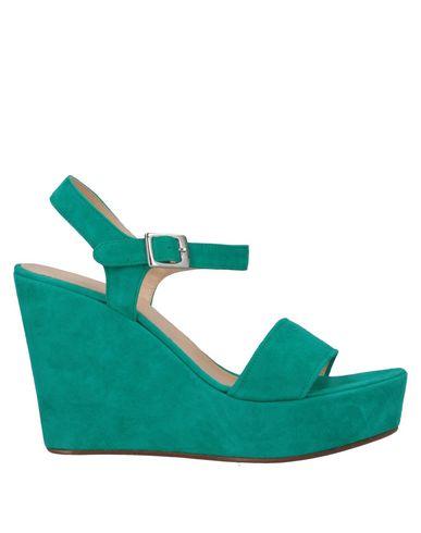 Купить Женские сандали P.A.R.O.S.H. зеленого цвета