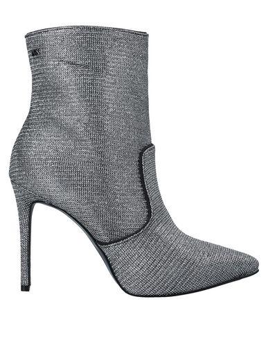 Купить Полусапоги и высокие ботинки серебристого цвета